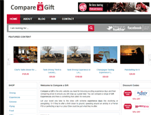 Tablet Preview of compareagift.co.uk